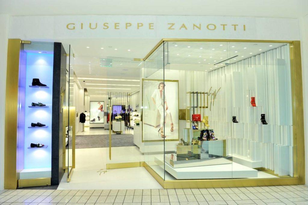 giuseppe zanotti boutique in milan