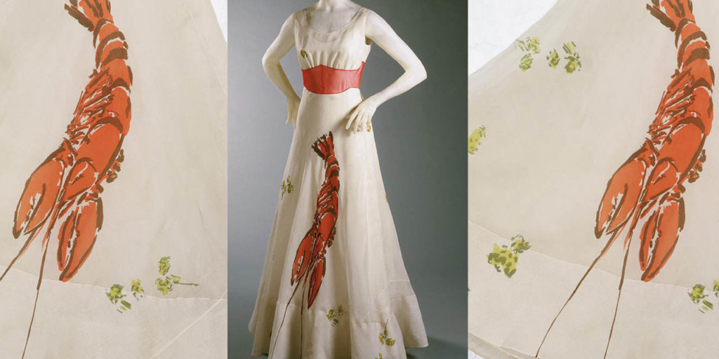 Elsa Schiaparelli lobster design dress