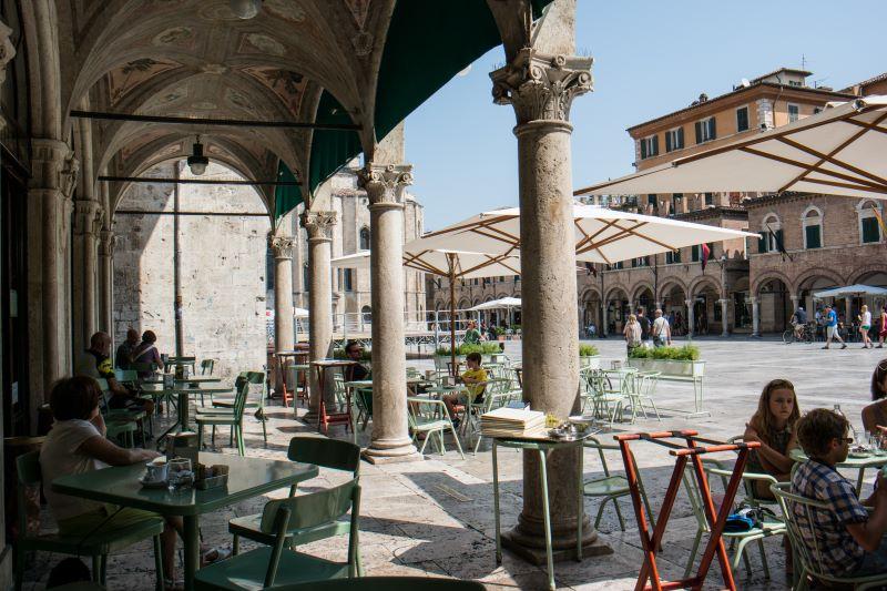 Caffè Meletti, an historic café in Ascoli Piceno
