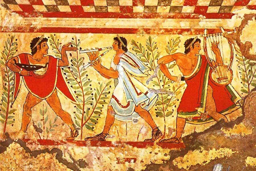 Etruscan art in Italy