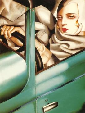 Green Bugatti Art Deco