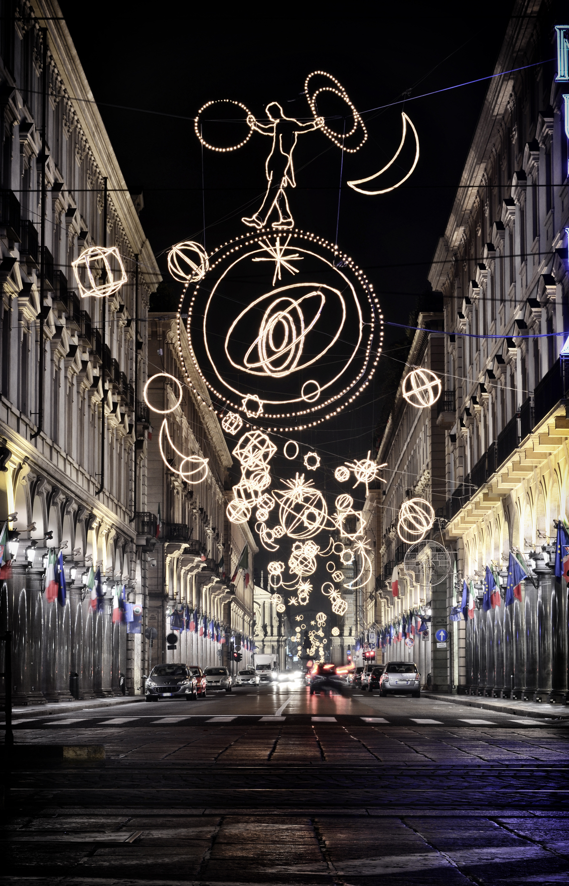christmas lights turin