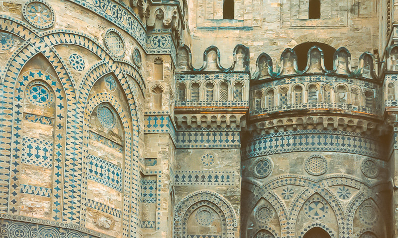 Detail of the cathedral in Palermo.