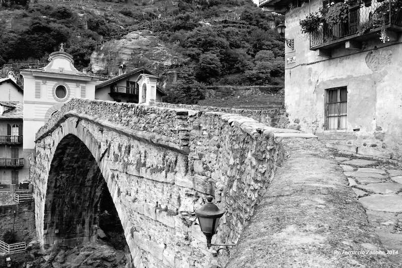 Pont Saint Martin in Aosta, along the Via Francigena.