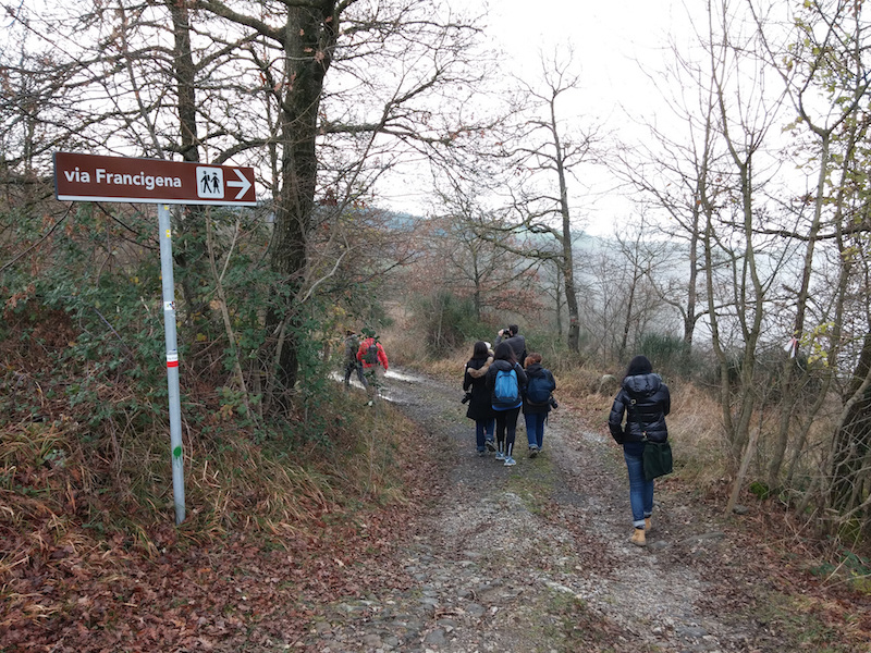 Along the Via Francigena towards Radicofani.