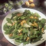 Venetian Arugula Salad with Parmesan Cheese and Walnut-Olive Dressing