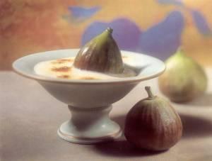 figs with zabaglione