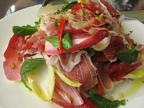A mouth watering salad with San Daniele prosciutto