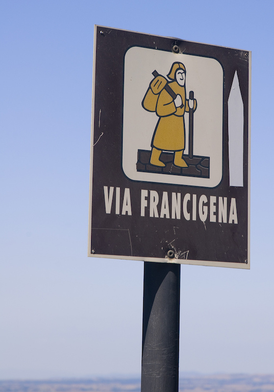 The Via Francigena.