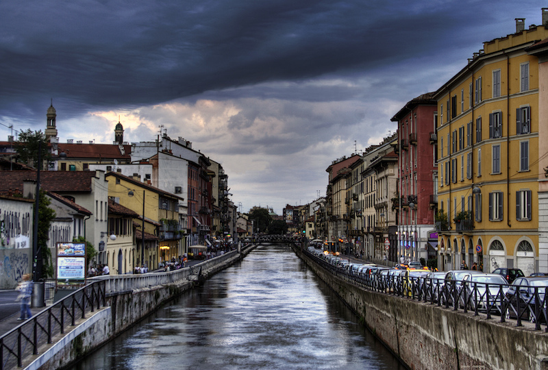 The navigli in Milan