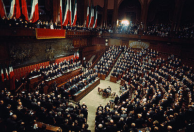 The italian political system life in italy for Il parlamento italiano wikipedia