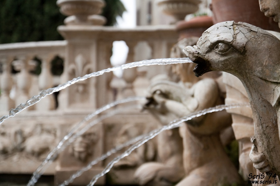 Detail of fountains in Villa D'Este, Tivoli