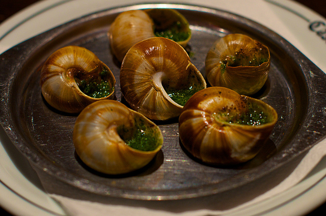 Weird Italian food: snails with garlic and parsley