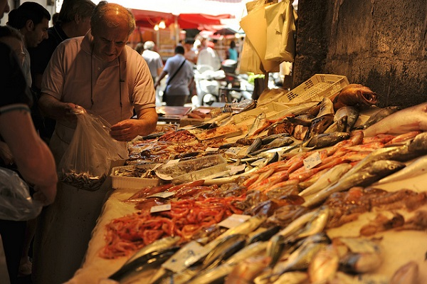 At the Fish Market in Catania
