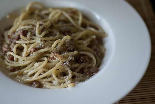 Pasta alla Gricia, the ancestor of Amatriciana