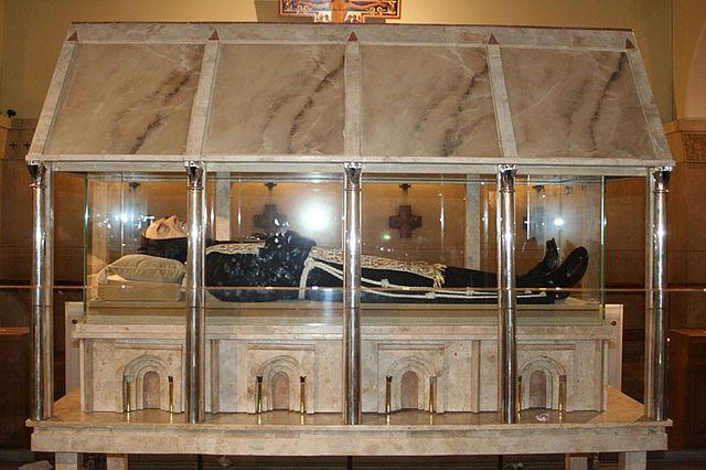 The shrine where the remains of Padre Pio rest.