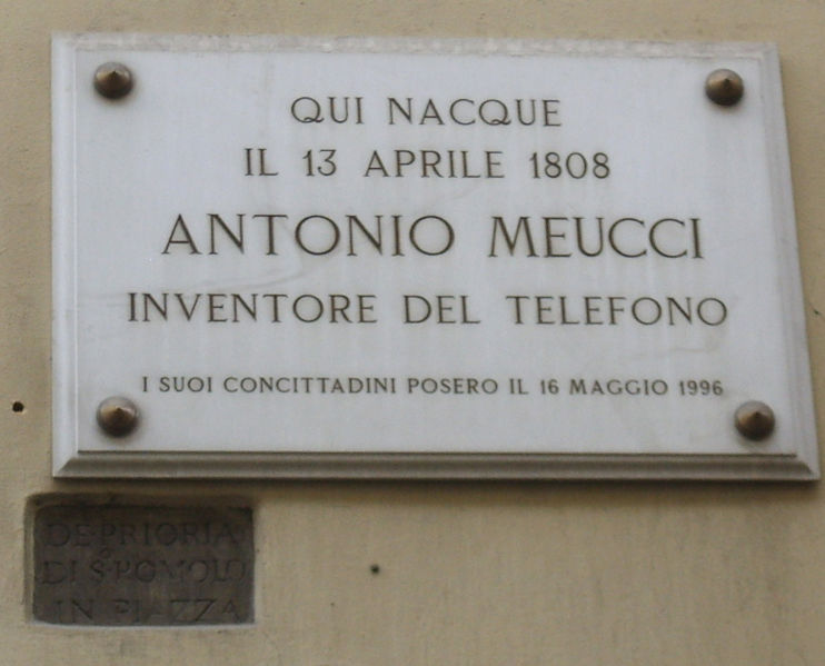 Here it was born: Antonio Meucci Inventor of the Telephone