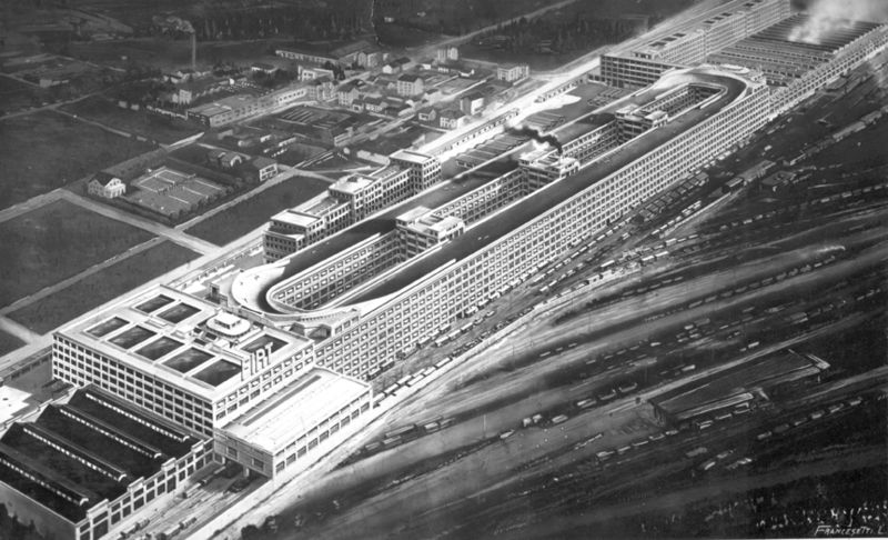 Fiat Lingotto Factory View in 1928
