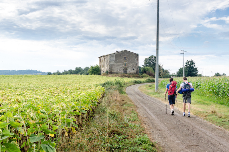 Along the Via Francigena in Lazio.