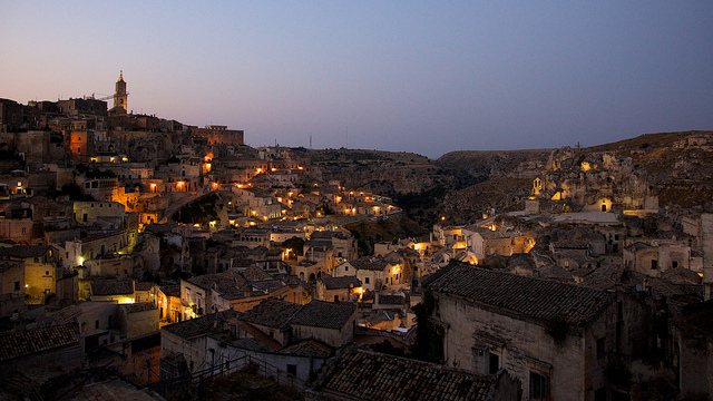 Matera, in Basilicata, City of Culture 2019. Southern Italy weather is milder than in the North of Italy