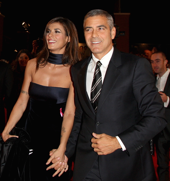 George Clooney with Canalis