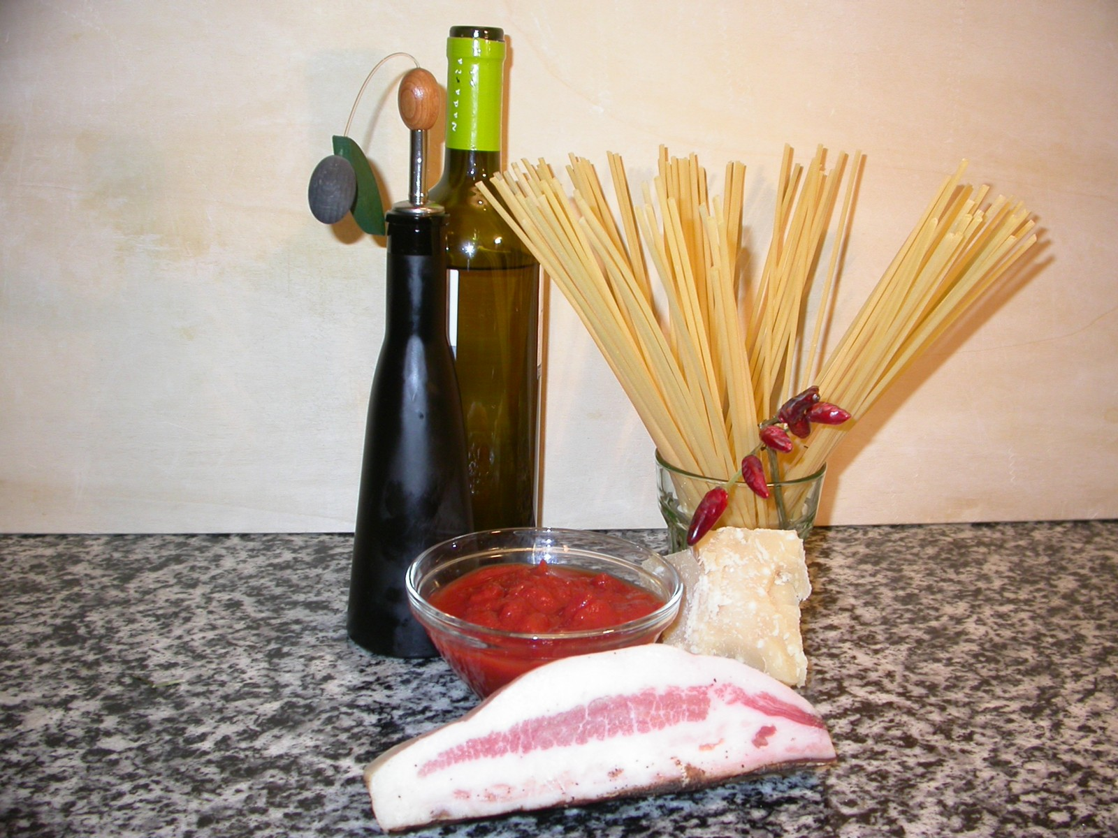 Ingredients for Amatriciana