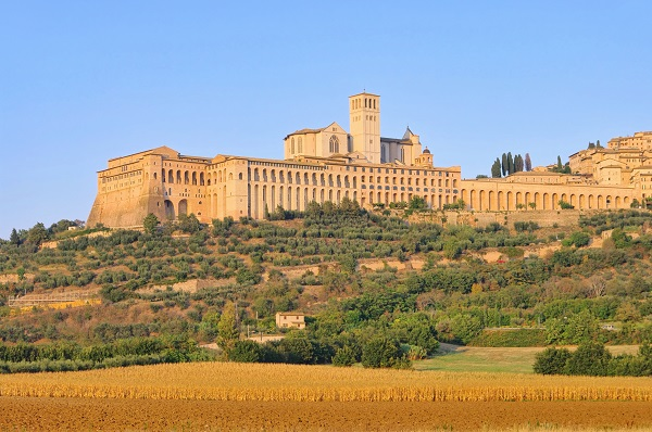 Assisi from the plains