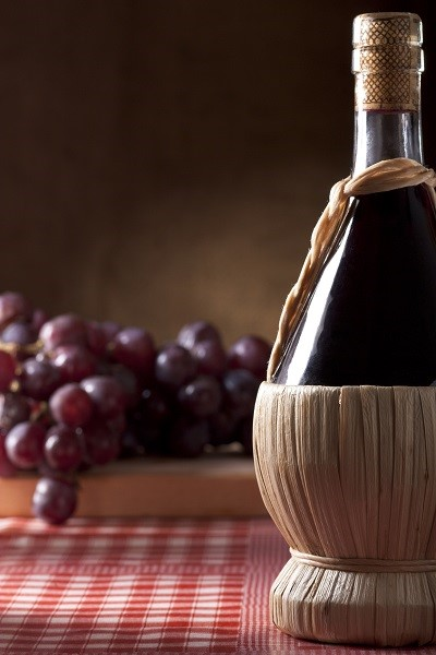 Chianti, one of the most famous Italian Red Wines, is sometimes still sold in traditional flasks