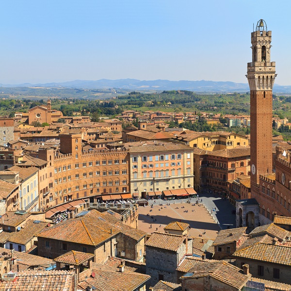 The town center in Siena is a Unesco World Heritage Site
