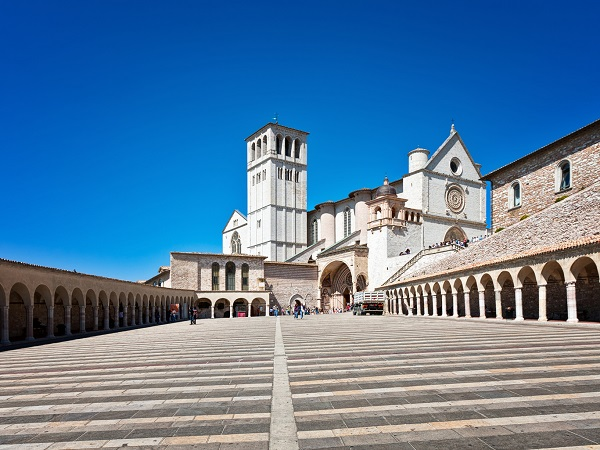 The Basilica of San Francesco in Assisi