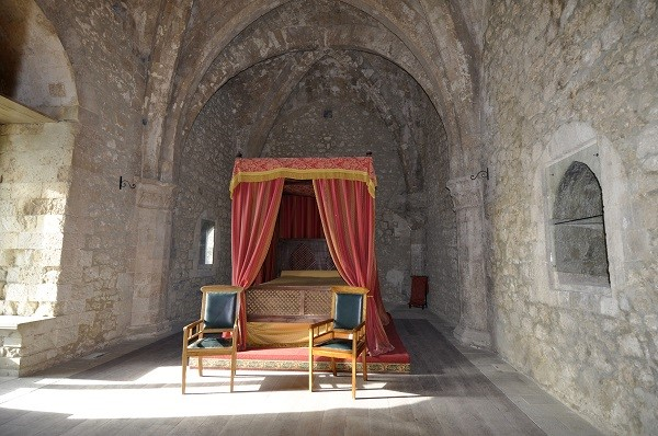 Bedroom in Mussomeli Castle in Sicily