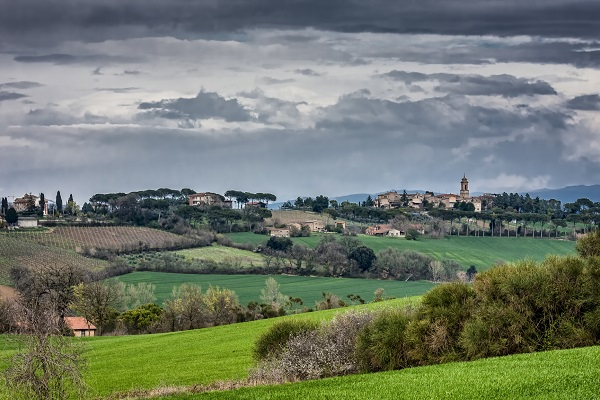 Landscape in Umbria, the Green Heart of Italy