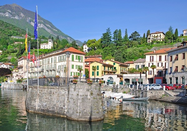The town of Menaggio by Lake Como