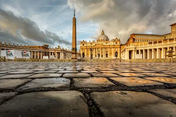 St. Peter's in Rome in the morning light