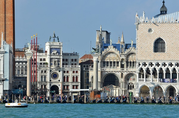 Italy viewed from the sea: Piazza San Marco in Venice