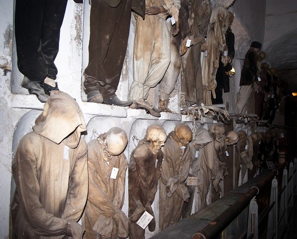 The monks' section of the Capuchinis' Catacombs in Palermo