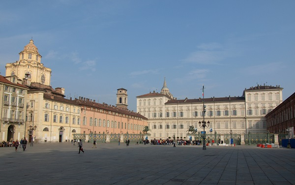 Piazza Castello with the Royal Palace in Turin.