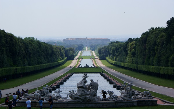 Reggia di Caserta's huge garden. The Royal Palace is a Unesco World Heritage Site