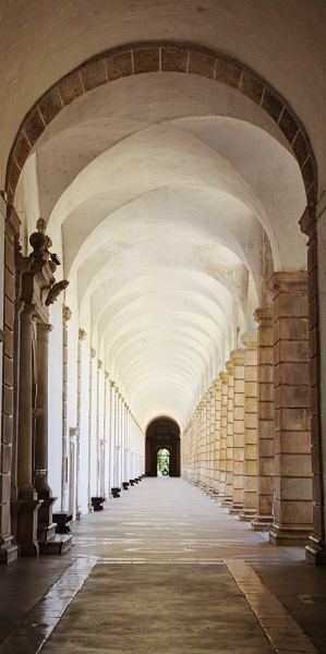 Cloister of the monastery in Padula