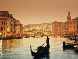 Gondolas: Venice in Black