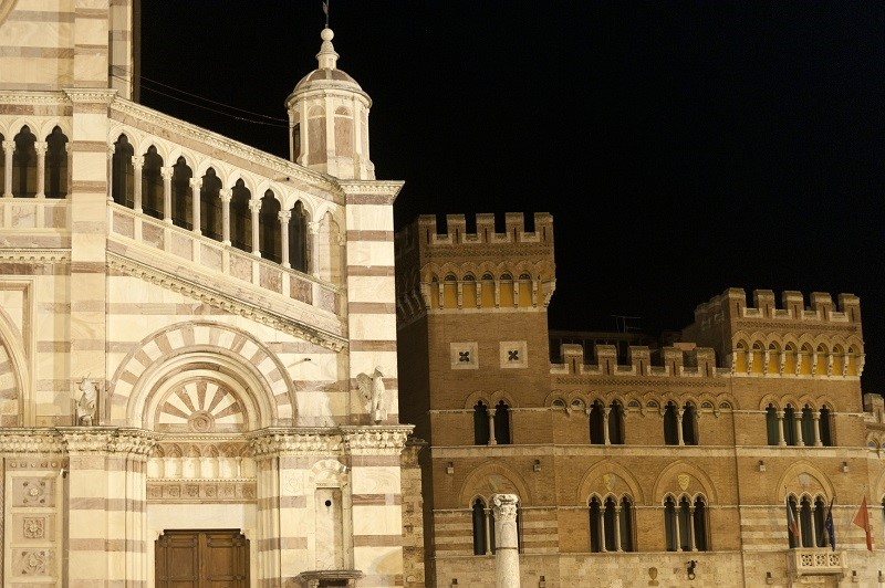 Cathedral and Palazzo Aldobrandeschi in Grosseto