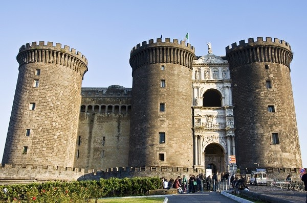 The Maschio Angioino, or Castel Nuovo, in Naples