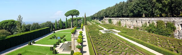 Garden of Mirrors at the Papal Summer House in Castel Gandolfo
