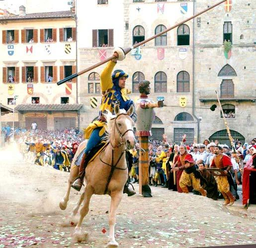 Horse Jousting in Arezzo: The Saracen Joust