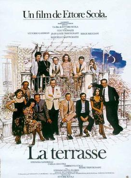 "French poster for Scola's ""La Terrazza"" which inspired  Sorrentino's ""La Grande Bellezza"""