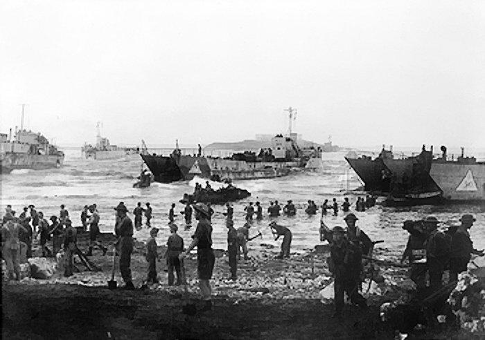 Operazione Husky - Sbarco spiaggia sull'invasione della Sicilia