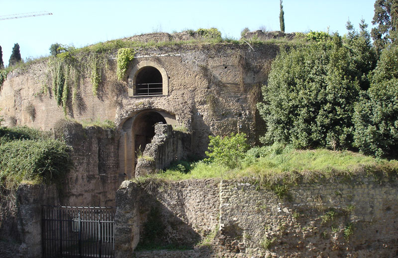 The Mausoleum of Augustus, representation of one of the most used methods of burials in Rome