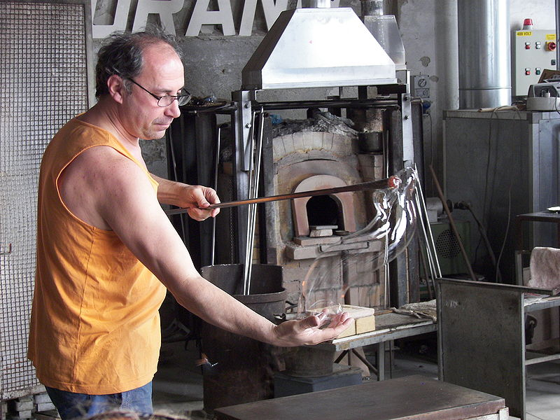 Murano glassblowing