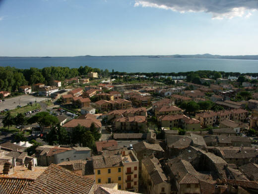 The Lake of Bolsena from afar