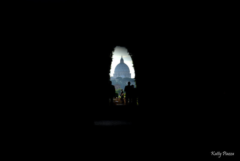 St. Peter's dome viewed from the keyhole in Priorato dei Cavalieri di Malta